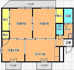 ユニオン西岩田[303号室]の間取り