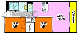 ソリエ・ベーネ 205号室[2階]の間取り