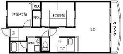 大阪府八尾市桜ヶ丘1丁目の賃貸マンションの間取り