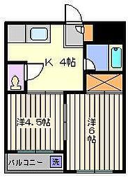下野屋ビル[2階]の間取り