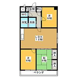 パークタウン小田井[4階]の間取り