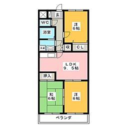 エクセレントミネ[2階]の間取り