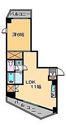 ヒルズ西竹ノ塚[4階]の間取り