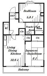 グランドウィンズIV[1階]の間取り