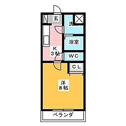 グローリーノーブル[3階]の間取り