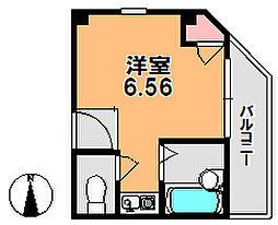 奈良県奈良市三条大路2丁目の賃貸マンションの間取り