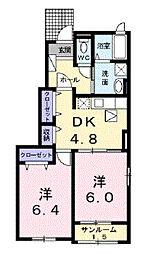 富山県富山市五福の賃貸アパートの間取り