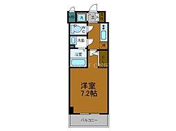 Osaka Metro千日前線 鶴橋駅 徒歩2分の賃貸マンション 13階1Kの間取り