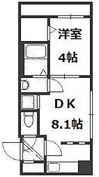 Cherisis南6条[1階]の間取り