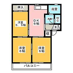 グリーンパルク都府楼A[2階]の間取り