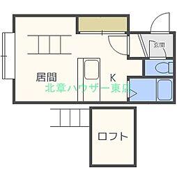 北海道札幌市東区北二十七条東7丁目の賃貸アパートの間取り