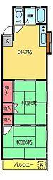 エバトコーポ[2階]の間取り