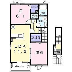 桜ガルデン[2階]の間取り