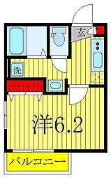 仮)柏市旭町新築計画 4階1Kの間取り