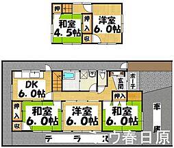 [一戸建] 福岡県春日市紅葉ヶ丘西4丁目 の賃貸【/】の間取り