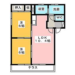 サンライズ I II III[1階]の間取り