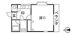 黒崎ハイツ[1階]の間取り