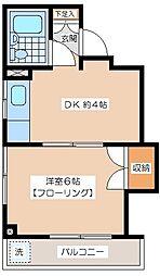 梅丘ミモザ館[2階]の間取り
