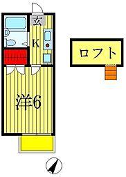 ジュネパレス松戸第519[1階]の間取り