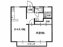 鹿隈リゾートタウン16[2階]の間取り