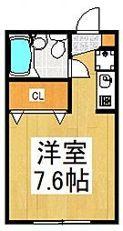プライム津田[1階]の間取り