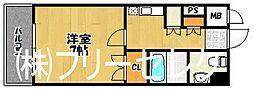 福岡県福岡市博多区冷泉町の賃貸マンションの間取り