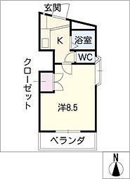 富士レイホービル第3[3階]の間取り