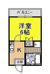 アパートメント翠月[5階]の間取り