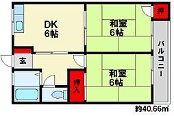 古川ビル[3階]の間取り