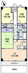 ライオンズマンション西八千代[1階]の間取り