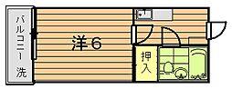セザール青木台[2階]の間取り
