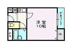 メゾンアルス[2階]の間取り