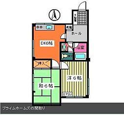 プライムホームズ[3階]の間取り