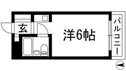 兵庫県西宮市甲東園1丁目の賃貸マンションの間取り