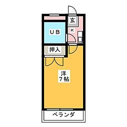 コーポラス太田[4階]の間取り