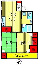 工藤ビル[4階]の間取り