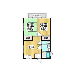 ハイツK・S・ID棟[1階]の間取り