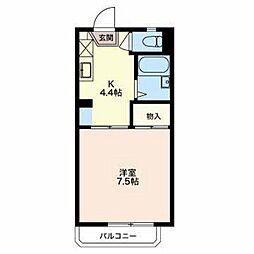 長野県長野市三本柳東1丁目の賃貸アパートの間取り