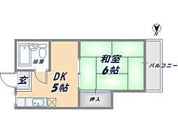 レジェンド小阪[3階]の間取り