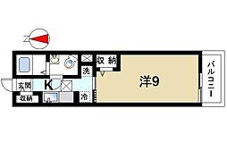 奈良県大和郡山市雑穀町の賃貸アパートの間取り