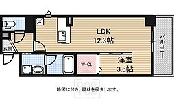大阪府大阪市中央区東心斎橋1丁目の賃貸マンションの間取り