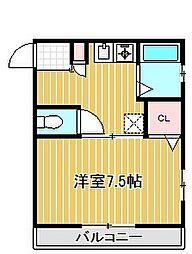 ドルフヤハタ[2階]の間取り