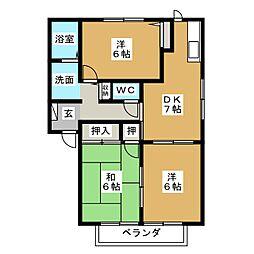 ソフィア・J B棟[2階]の間取り