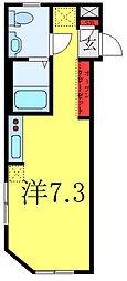 Grado OYAMA 4階ワンルームの間取り