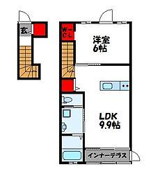 ヒルズEF II[2階]の間取り