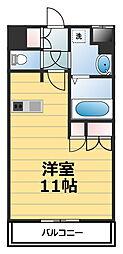 神奈川県海老名市中新田2丁目の賃貸マンションの間取り