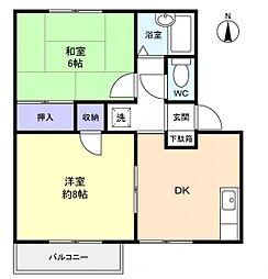 トラッド ハナシマ[2階]の間取り