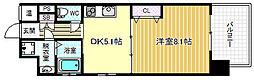 ウィステリア西梅田[2階]の間取り