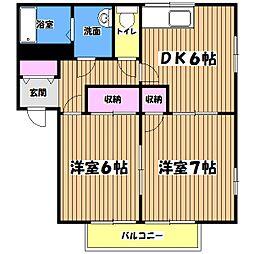 メゾンロワール[2階]の間取り