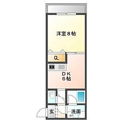 ルトラン和歌山[1階]の間取り